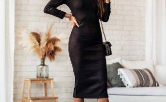 sukienka elegancka ciemna